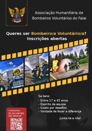 Recrutamento de bombeiros voluntários em curso até ao dia 28 de fevereiro de 2019