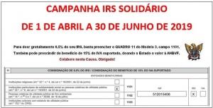 Campanha IRS Solidário: até 30 de junho de 2019!